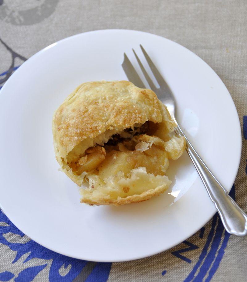 Mini tourtes aux pommes noix de pecan
