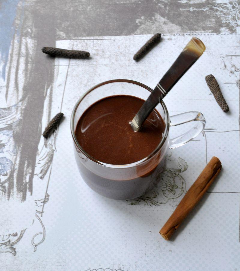 Chocolat chaud aux épices sans lait