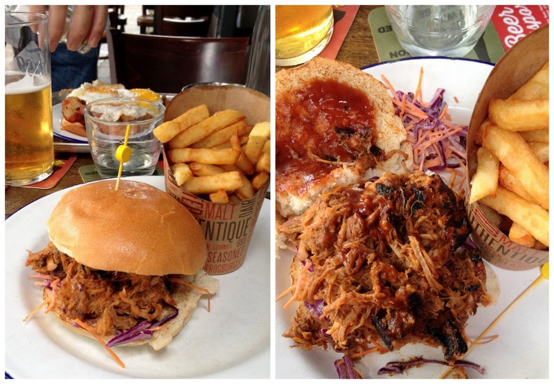 Pulled pork sandwich the frog