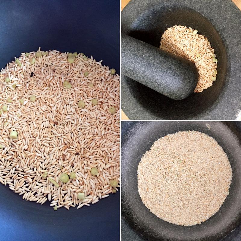 Poudre de riz grillé