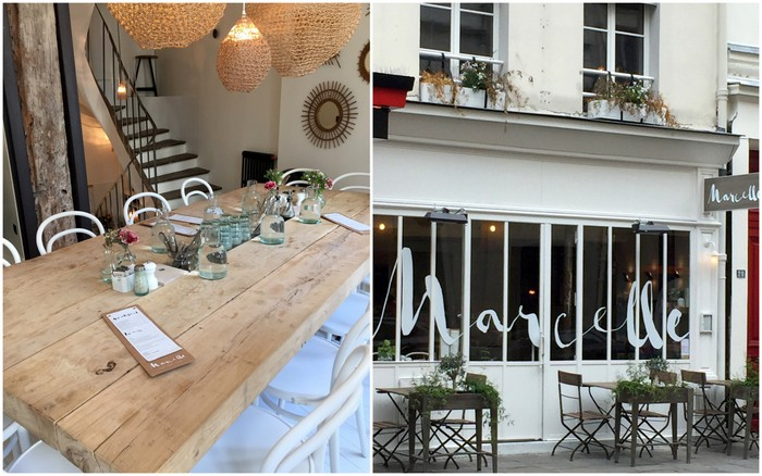 Resto coffee shop healthy quartier montorgueil marcelle