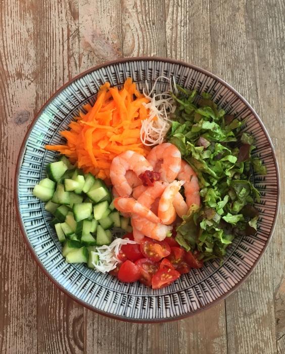 Salade de vermicelles de riz facon bo bun