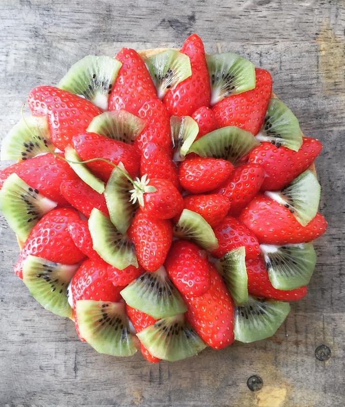 Tarte facile aux fraises