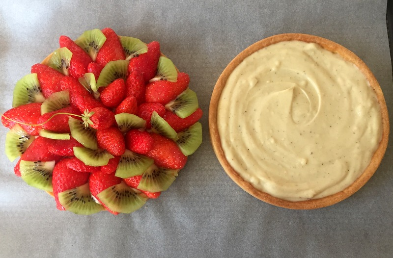 Tarte facile aux fraises pate sablee creme patissiere