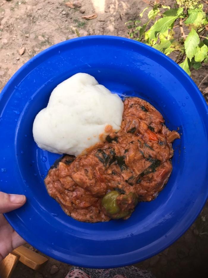 Foufou ou fufu et sauce plat traditionnel togo