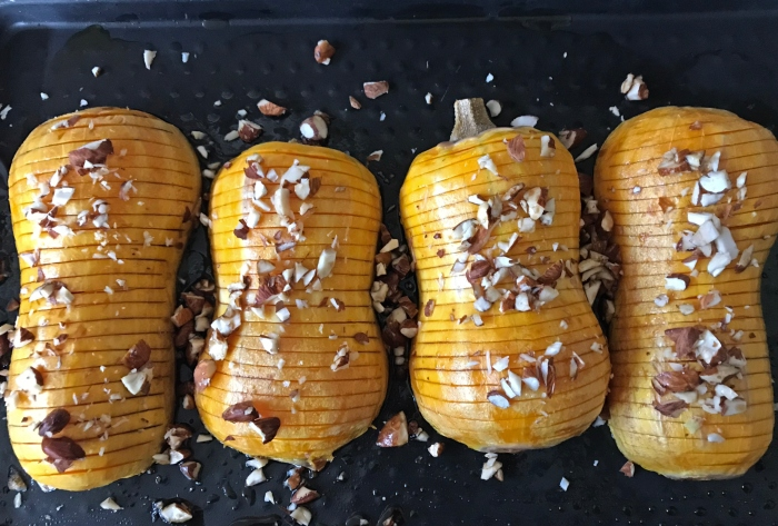 Butternut hasselback avant cuisson scally