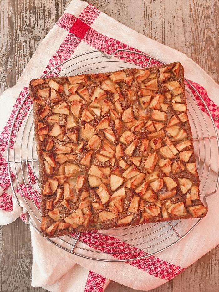 Gateau pudding pommes et pain