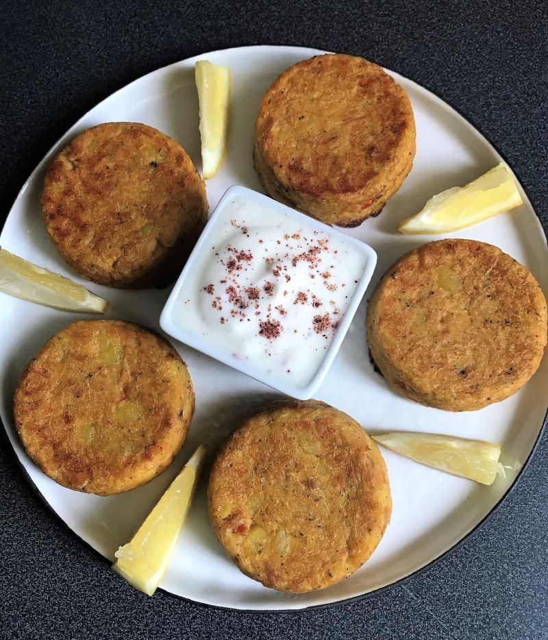 Galettes pommes de terre thon citron