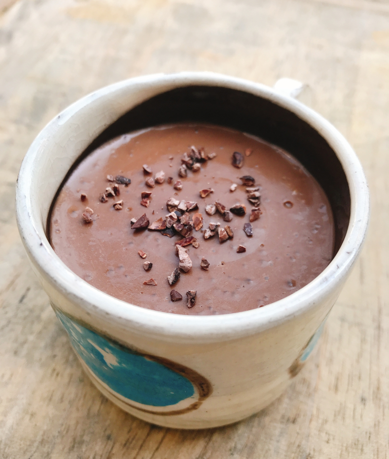 Creme dessert chocolat tapioca sans oeufs