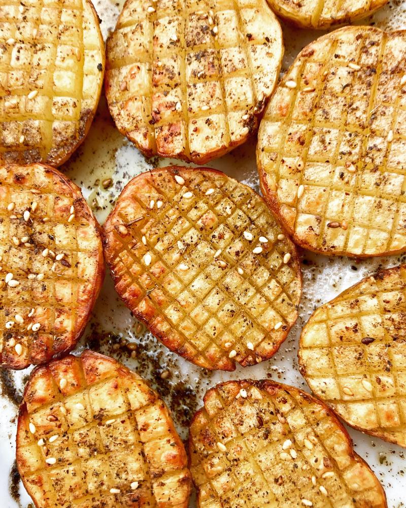 Pommes de terre quadrillees