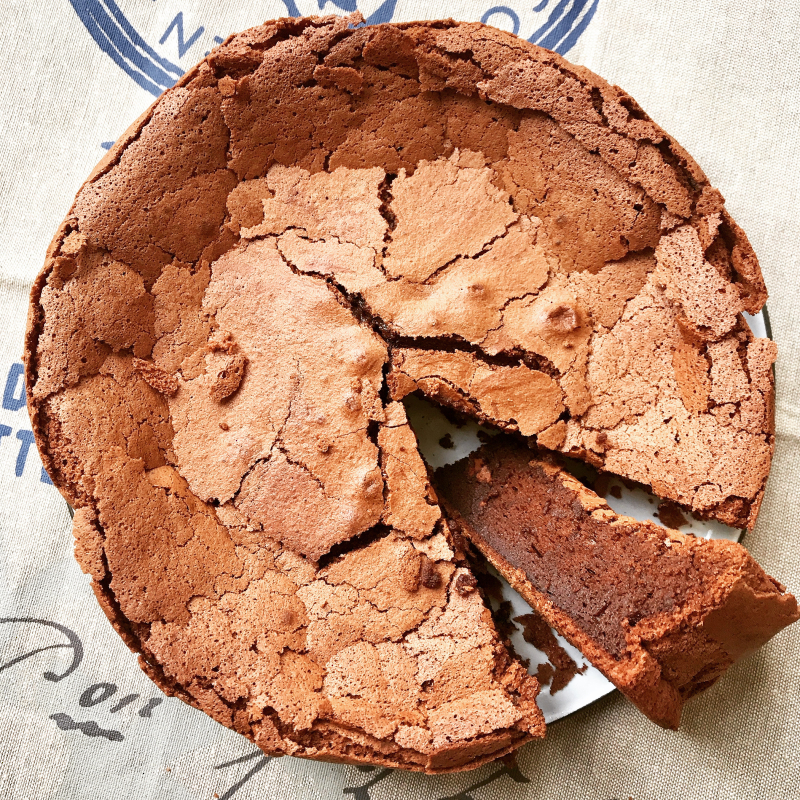 Fondant au chocolat frederic bau valrhona
