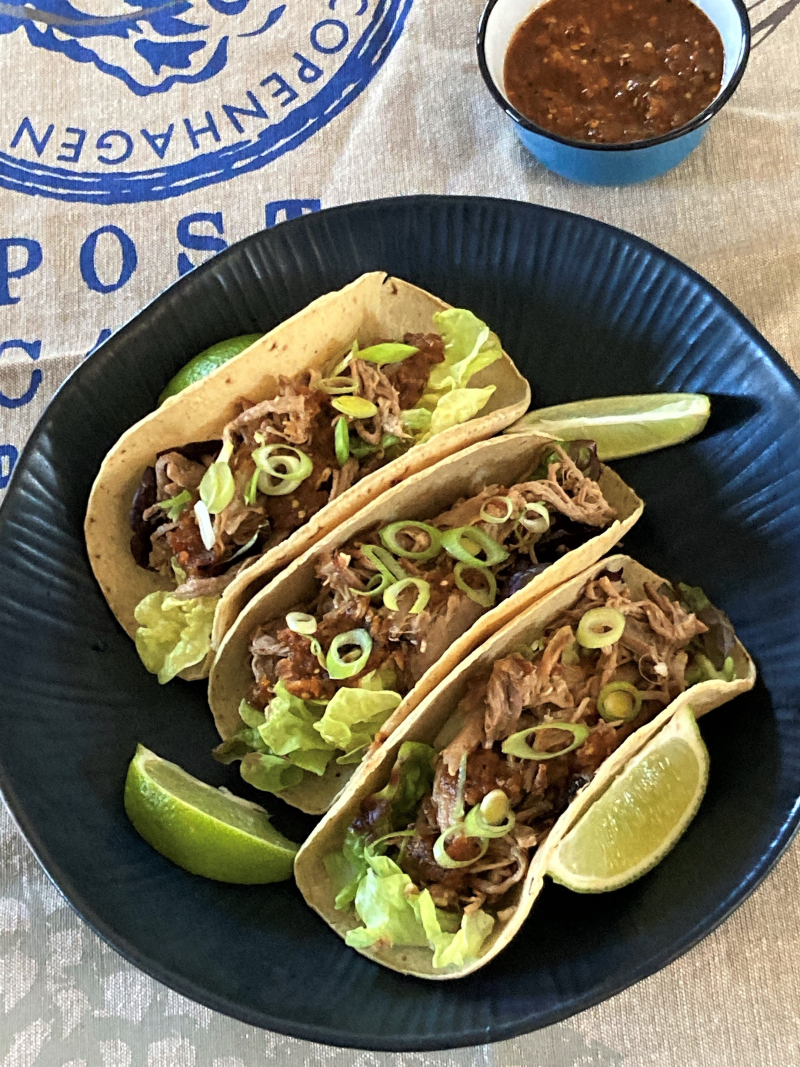 Tacos pulled pork bierre