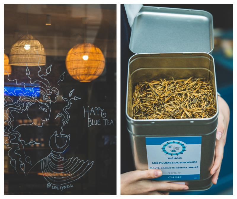 Happy blue tea 210 rue des Pyrénées Paris 20