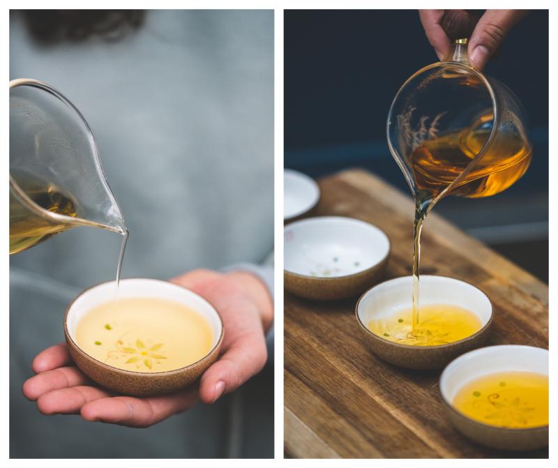 Degustation de the chez happy blue tea rue des Pyrénées paris 20