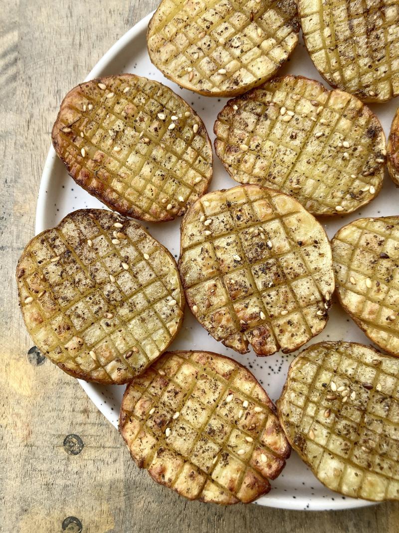 Pommes de terre quadrillees ou croisillons