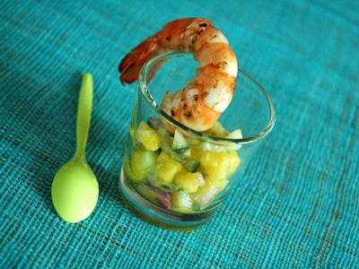 Crevettes_sautes_salsa_mangue_conco